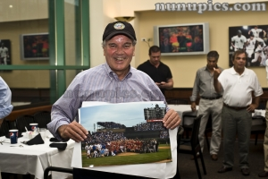 Mayor Daley with the Cubs, Hawks and Sox team pic of the 2010 shot during the Crosstown Classic