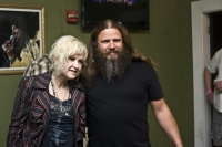 Backstage Cindy Lauper and Jaimie Johnson Tipitinas May 5 2011 at a Blind Boys Concert