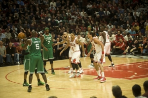 Chicago Bulls take on the Boston Celtics April 7 2011 United Center Chicago I