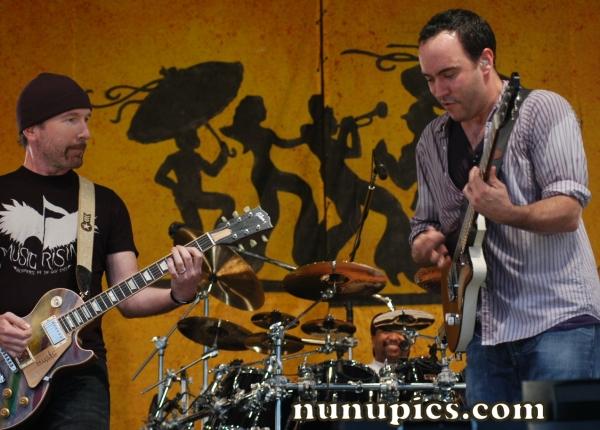 Edge and Dave Mathews  New Orleans Jazz Fest  April 21 2006