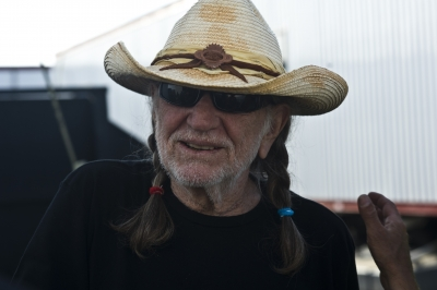 Backstage with Willie Nelson New Orleans Jazz And Heritage Fest May 6 2011
