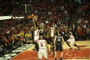 Chicago Bulls battle the Indiana Pacers Game 1 APRIL 16 2011 NBA FINALS