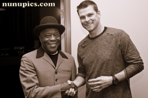 Buddy Guy and Kerry Wood  Backstage at Legends January 15 2012