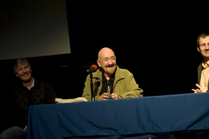 Dave Mason answers questions at Highland Park High School April12 2011