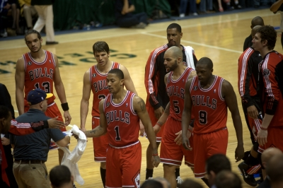 Derrick Rose and the Chicago Bulls Take on the Miami Heat