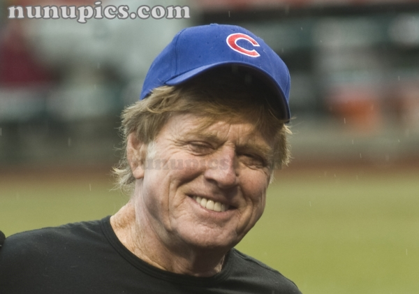 Robert Redford Opening day Chicago Cubs April 1 2011