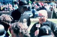 Michael Jordan and Harry Carrey Crosstown Classic 1994
