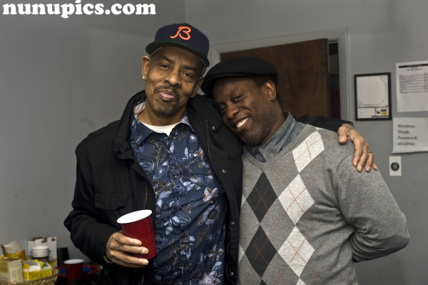 Galactic frontmen past and present: Houseman and Corey Glover Backstage at The Park West February 18 2011 Chicago Il.