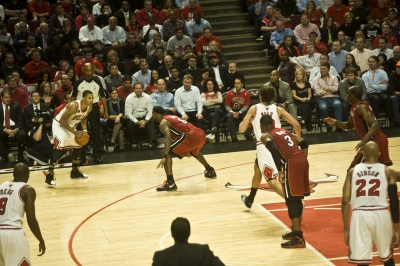 Derrick Rose and the Chicago Bulls Take on the Miami Heat Eastern Conference Fin