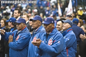 Chicago Cubs Hall Of Famers Billy Williams, Fergie Jenkings and Ernie Banks Opening Day April 1 2011