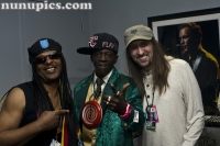 Backstage with Frankie Cash Waddy, flav and Pete Sokolow backstage funkfest Mar 19 2011 Las Vegas