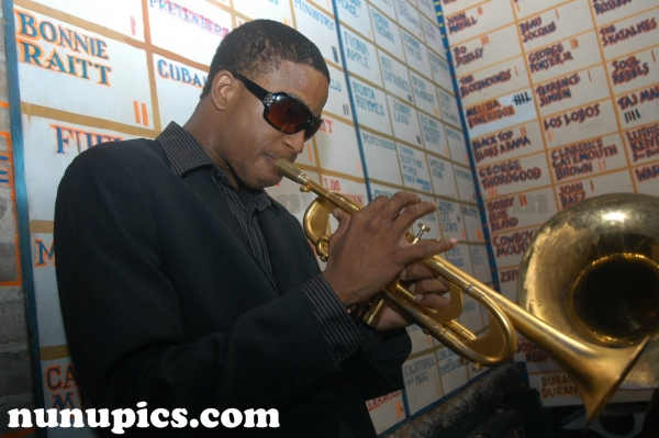 Trombone Shorty plays the Trumpet at the New Orleans House of Blues during Jazz and Heritage Festival 2006